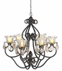 Medium Hannah Series Chandelier - Bronze