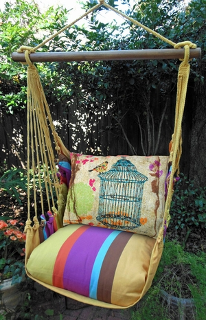 Cafe Soleil Prism Garden Hammock Chair Swing Set - Click to enlarge