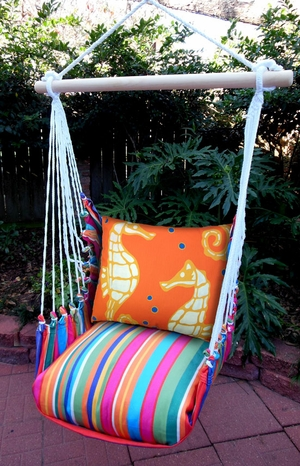 Le Jardin Sea Horse Hammock Chair Swing Set - Click to enlarge