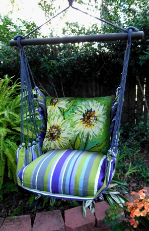 Folsom Spring Flowers Hammock Chair Swing Set - Click to enlarge