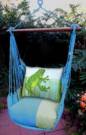 Meadow Mist Frog Hammock Chair Swing Set - Click to enlarge
