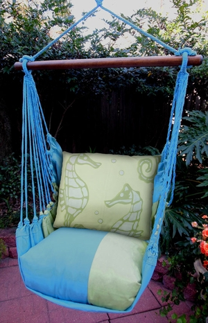 Meadow Mist Sea Horses Hammock Chair Swing Set - Click to enlarge