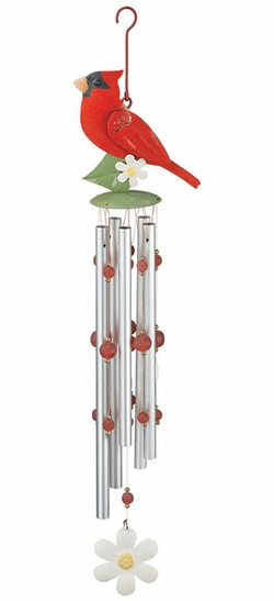 Red Cardinal Wind Chime - Click to enlarge