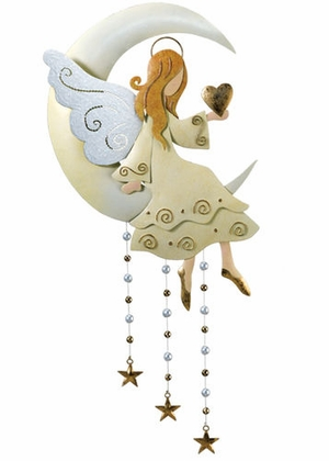 Hanging Moon & Angel Wall Decor - Click to enlarge