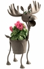 Hal the Metal Moose Planter