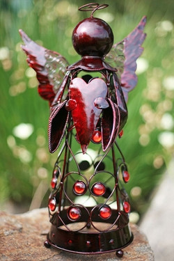 Medium Filigree Angel Statue - Red - Click to enlarge