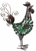 Large Green Mosaic Rooster Decor