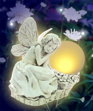 Sleeping Solar Fairy Statue - Click to enlarge