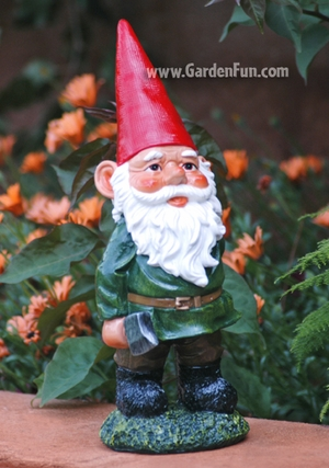 Garden Gnome with Axe - Click to enlarge