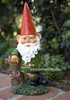Garden Gnome Leaning on Tree