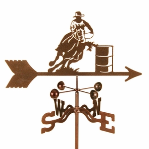 Barrel Racer Weathervane - Click to enlarge