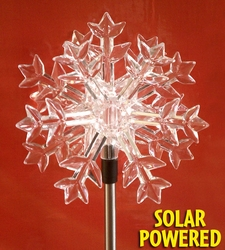 Solar LED Snowflake Garden Stake - Click to enlarge