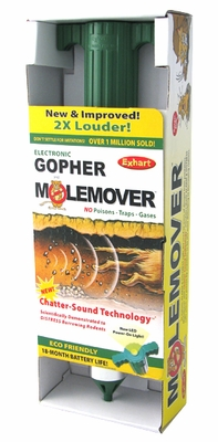 MoleMover by Exhart: Rodent Control w/Chatter-Sound Technology & LED - Click to enlarge