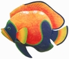 Large Blue Orange Fish Wall Art