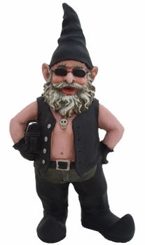 Large Biker Garden Gnome - Click to enlarge