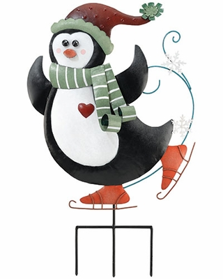 Christmas Penguin Stake / Wall Decor - Click to enlarge
