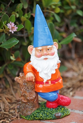 Garden Gnome Hipster - Blue Hat - Click to enlarge