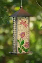 Decorative Metal Tray Feeder - Click to enlarge