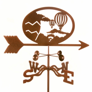 Hot Air Balloons Weathervane - Click to enlarge