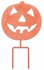 Scary Pumpkin Stake / Sign (Set of 3)