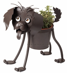 Rowdy the Puppy Dog Planter - Click to enlarge