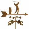 Male Golfer Weathervane