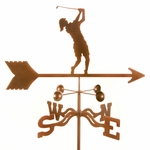 Female Golfer Weathervane