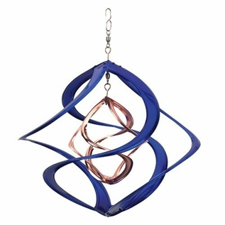 Metal Wind Spinner - Blue Cosmix - Click to enlarge