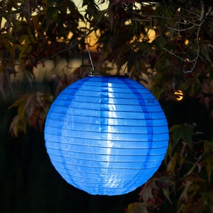 Soji Solar Lantern - Blue - Click to enlarge