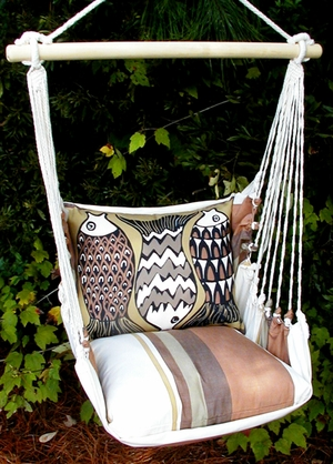 Cappuccino Fun Fish Hammock Chair Swing Set - Click to enlarge