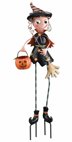 Halloween Witch Garden Decor - Click to enlarge