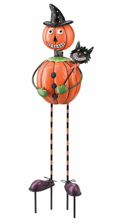Pumpkin Man Garden Decor - Click to enlarge