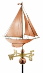 Racing Sloop Sailboat Weathervane
