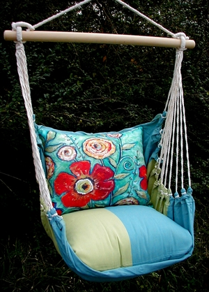 Meadow Mist Flower Burst Hammock Chair Swing Set - Click to enlarge