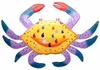 Metal Crab Wall Decorations (Set of 3)