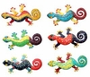Metal Gecko Wall Art (Set of 12)