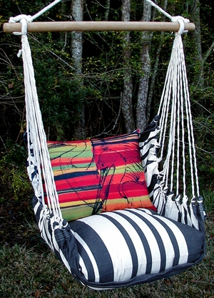 Metro Stripe Pelicans Hammock Chair Swing Set - Click to enlarge