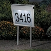 Solar Address Numbers - Stainless Steel