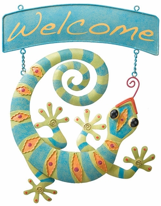 Gecko Welcome Sign - Click to enlarge