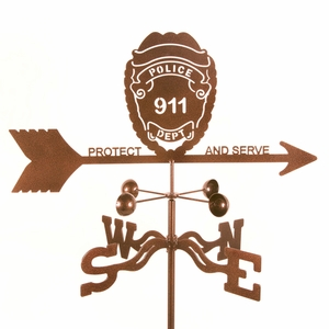 Police Badge Weathervane - Click to enlarge