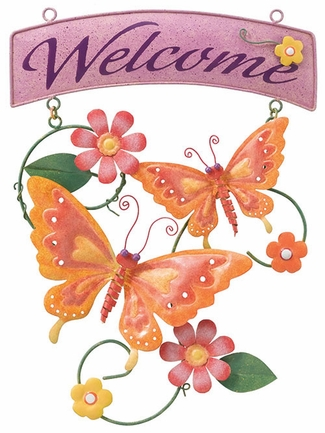Butterfly Welcome Sign - Click to enlarge