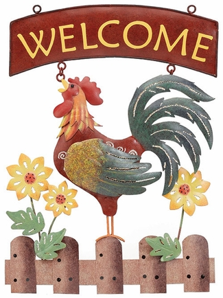 Rooster Welcome Sign - Click to enlarge