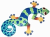 Blue Dotted Gecko Wall Decor