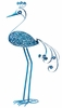 "Giant 61"" Garden Flower Bird - Blue"