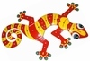 XL Red Yellow Gecko Wall Art