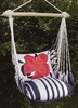 Metropolitan Red Hibiscus Hammock Chair Swing Set