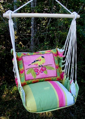Fresh Lime Ladybird Hammock Chair Swing Set - Click to enlarge