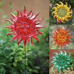 Sunface Garden Stakes (Set of 6) - Click to enlarge