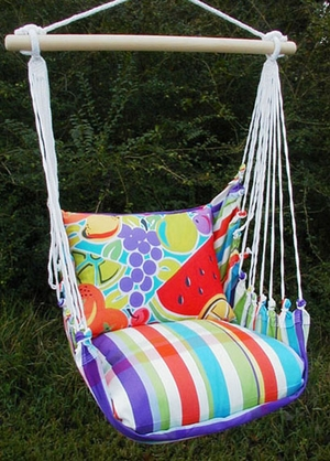 Fine & Dandy Fruit Hammock Chair Swing Set - Click to enlarge
