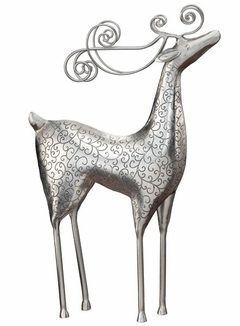 Silver Reindeer Standing Decor - Click to enlarge